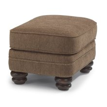 Bay Bridge Fabric Ottoman with Nailhead Trim