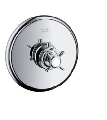 Chrome Thermostat for concealed installation with cross handle