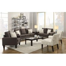 Bachman Transitional Grey Three-piece Living Room Set