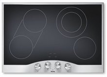 "Stainless Steel/Black Glass 30"" Electric Radiant Cooktop - DECU (30"" wide cooktop)"
