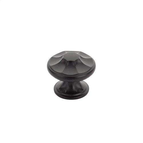 "Empire, Round Knob, 1-3/8"" diameter, Matte Black finish"