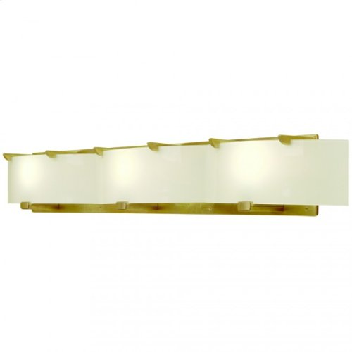 Triple Plank Vanity - Flat Glass - V440 White Bronze Light
