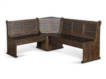 Homestead Long Bench & Corner Back, Wood Seat Product Image