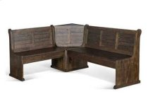 Homestead Short Bench & Corner Seat, Wood Seat Product Image
