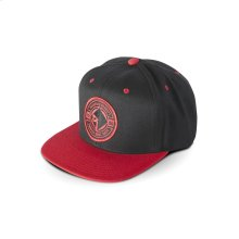 Black Hat w/ Red & Black RF Patch (one size)