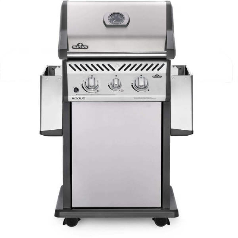Rogue 365 Propane Gas Grill With Infrared Side Burner Stainless Steel