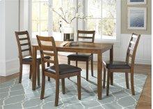 5 Piece Rectangular Leg Table Set