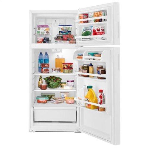 28-inch Top-Freezer Refrigerator with Gallon Door Storage Bins - black