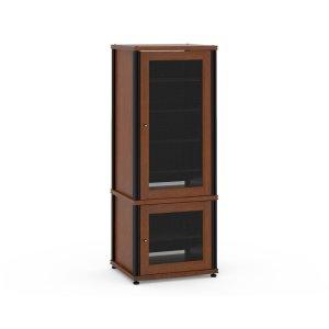 Salamander DesignsSynergy Solution 603, Quad-Width AV Cabinet, Cherry with Black Posts