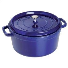 Staub Cast Iron 5.5-qt Round Cocotte, Dark Blue