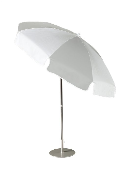 Aluminum Tilting, Octagon 7.5' Push Button, Manual Lift Umbrella, Alt. Panels