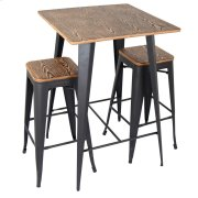 Oregon Pub Set - Grey frame / medium brown seat Product Image