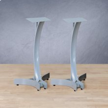 """24"""" Titanium Silver Finish Speaker Stands"""