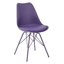 Emerson Student Side Chair With 4 Leg Base In Purple Finish
