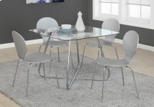 "DINING TABLE - 40""DIA CHROME WITH 8MM TEMPERED GLASS"