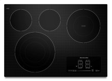 """30"""" Electric Cooktop with 4 Radiant Elements and Touch-Activated Controls - Black"""