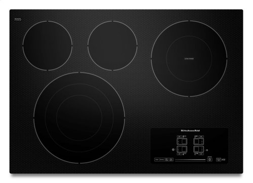 "30"" Electric Cooktop with 4 Radiant Elements and Touch-Activated Controls - Black"