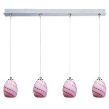 Swirl 4-Light RapidJack Pendant and Canopy