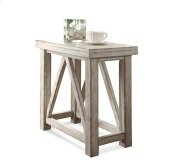 Aberdeen Chairside Table Weathered Worn White finish