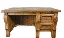 Old Wood Desk W/Single Drawers