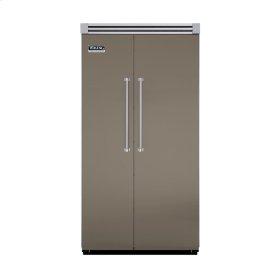 "Stone Gray 42"" Quiet Cool™ Side-by-Side Refrigerator/Freezer - VISB Tru-Flush™ (42"" wide)"
