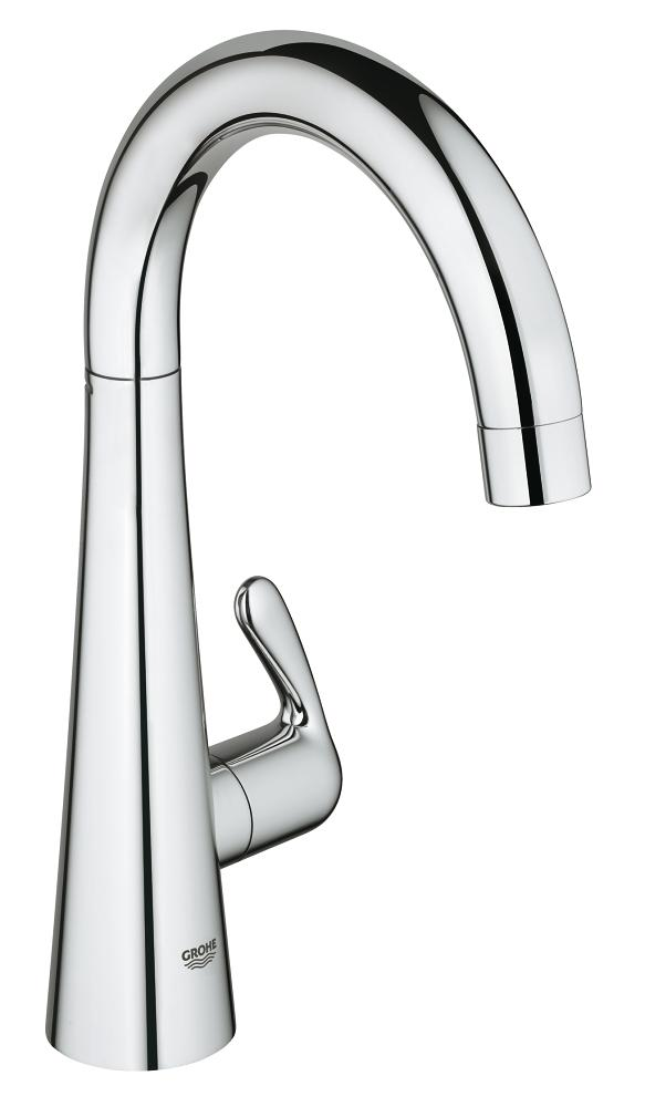 grohe ladylux faucet single handle kitchen ladylux kitchen faucet hidden grohe logo 30026000 in starlight chrome by new york city ny