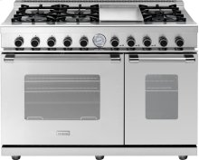 """Range NEXT 48"""" Classic Stainless steel 6 gas, griddle and 2 gas ovens"""