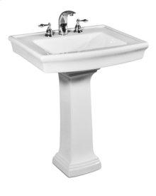 White JULIAN Pedestal Lavatory 8-inch spread