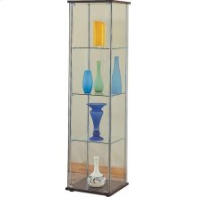 Cappuccino Curio Cabinet With Four Shelves