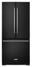 20 cu. Ft. 30-Inch Width Standard Depth French Door Refrigerator with Interior Dispense - Black Product Image