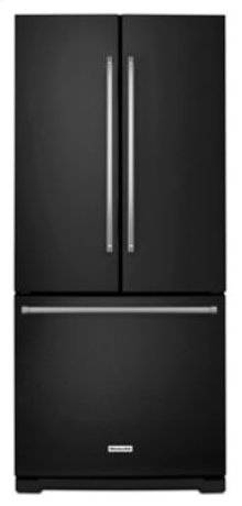 20 cu. Ft. 30-Inch Width Standard Depth French Door Refrigerator with Interior Dispense - Black