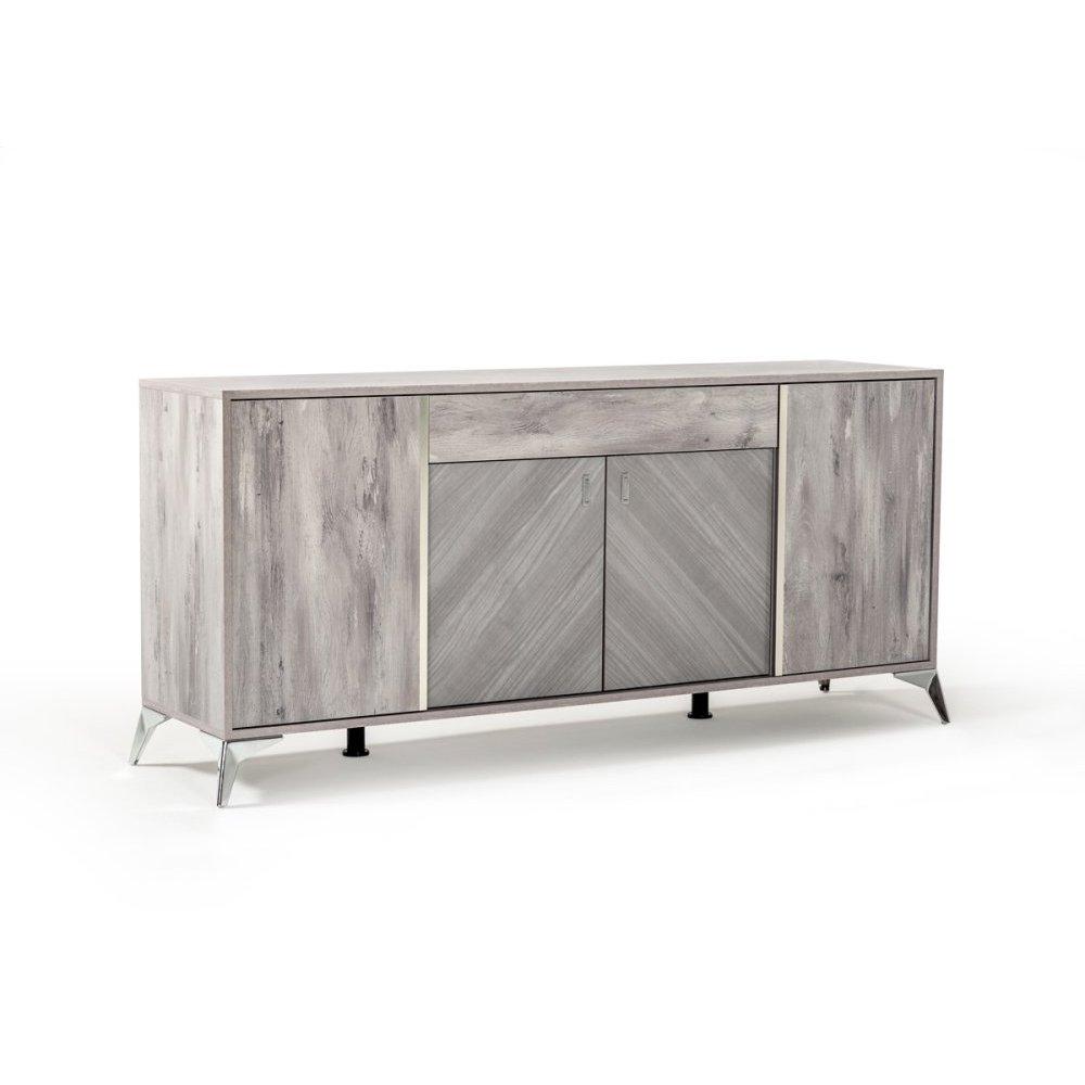 Nova Domus Alexa Italian Modern Grey Buffet
