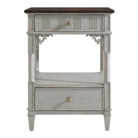 Charleston Regency - Palmetto Telephone Table In Gray Linen