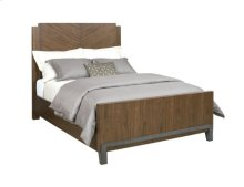 Chevron Walnut Cal King Bed Package