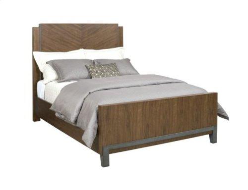 Chevron Walnut King Bed Package