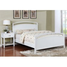 Reisa Bed - King, Gloss White Finish