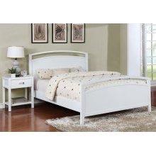 Reisa Bed - King, Gloss White Finish