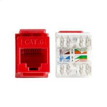 Punch Cat6 Keystone Inserts - Red