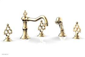MAISON Deck Tub Set with Hand Shower 164-48 - Satin Brass
