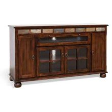 "Santa Fe 62"" Counter Height TV Console"