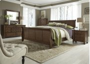 Queen Sleigh Bed, Dresser & Mirror, Chest, NS Product Image