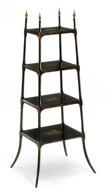 Regency Style Black Four-Tier tag re
