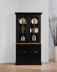 DLU-19-BH-BCH  Keepsake Buffet and Lighted Hutch  Antique Black and Cherry