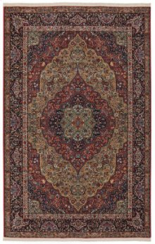 Medallion Kirman Multi Rectangle 5ft 9in X 9ft
