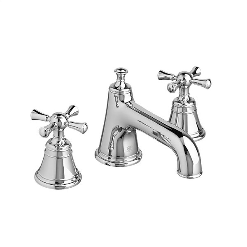 Randall Widespread Bathroom Faucet With Cross Handles Polished Chrome Hidden