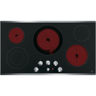 """GE 36"""" Electric Smoothtop Cooktop Stainless Steel JP3536SJSS"""