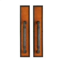 "Designer Push/Pull Set - 3 1/2"" x 18"" Silicon Bronze Rust with Acorn Weave Leather"