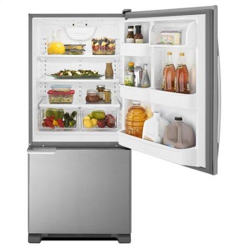 29-inch Wide Bottom-Freezer Refrigerator with Garden Fresh™ Crisper Bins -- 18 cu. ft. Capacity - stainless steel