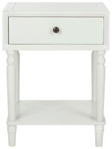 Siobhan Accent Table With Storage Drawer - Shady White