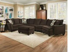 3810 - Flannel Espresso Sectional
